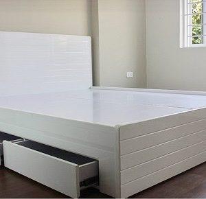 Giường 4 ngăn kéo 1m6 màu trắng G4NK-K.01